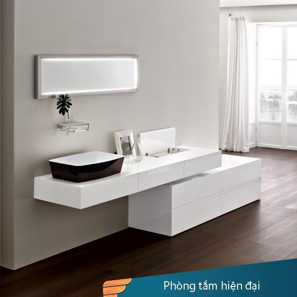 Xu Hướng Sử Dụng Picomat phủ bề mặt làm Tủ Chậu Lavabo Trong Phòng Tắm